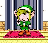 Link posing screenshot - color