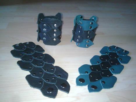 dragon scale cuffs