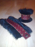 bunny fur cuffs by ShamanMagic