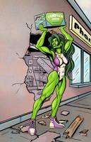 She-Hulk's Bad Day by ShamanMagic