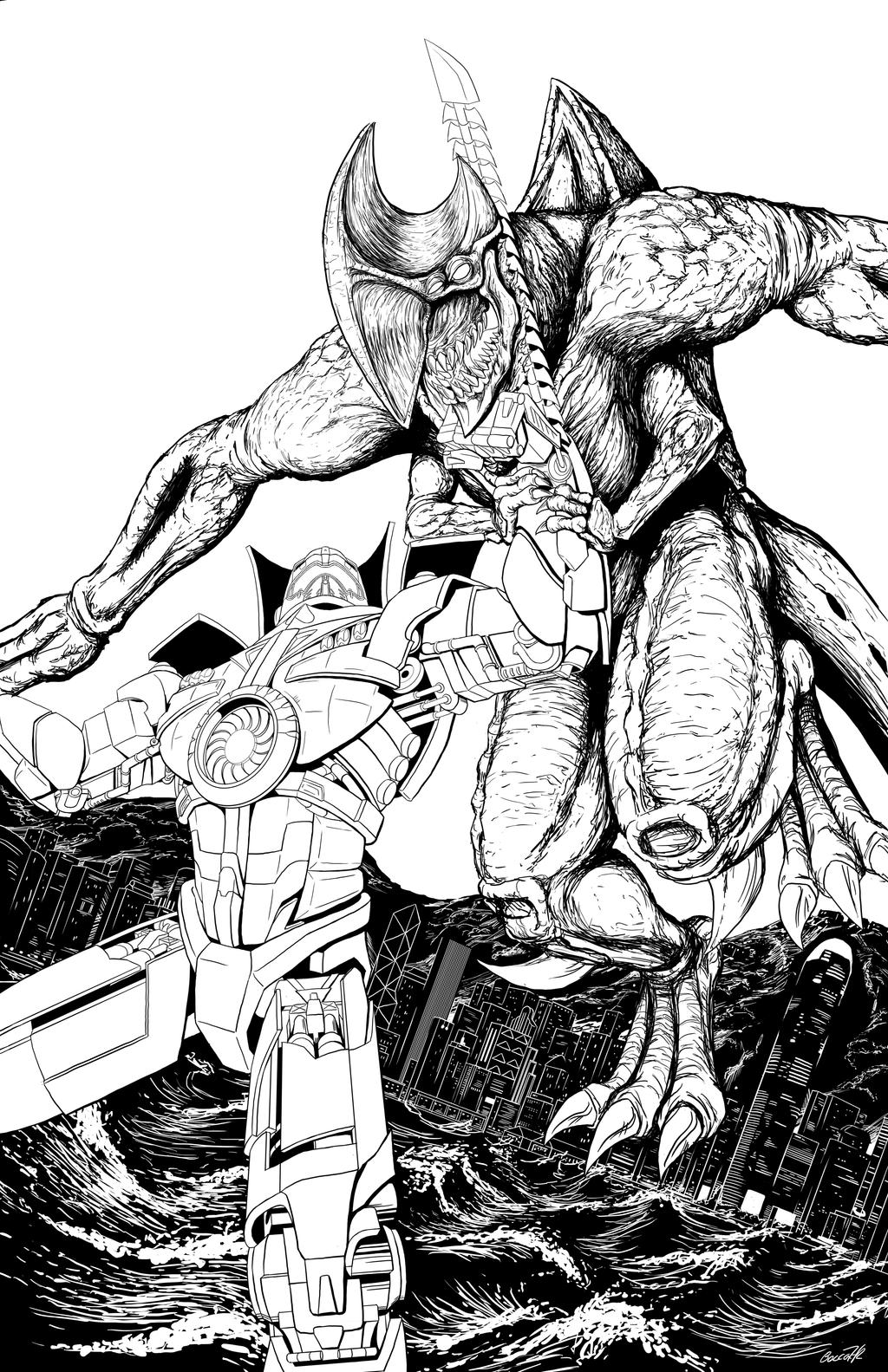 Pacific Rim inks by ShamanMagic on DeviantArt