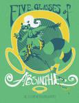 Absinthe T-shirt by egypturnash