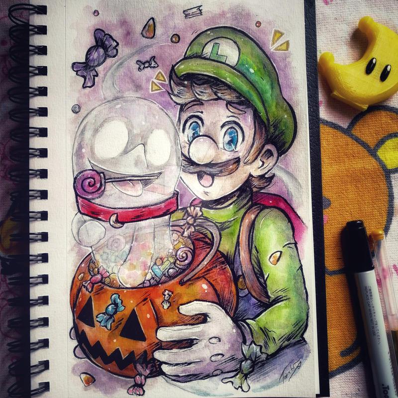 .Happy Halloween - Luigi and PolterPuppy