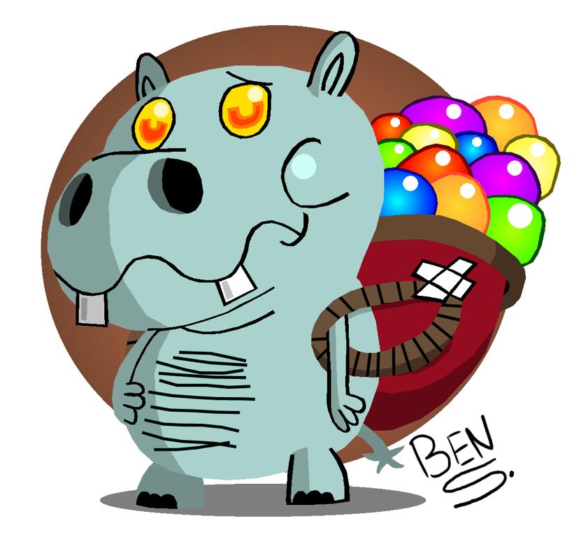 Gummy Hippo by DemoComics