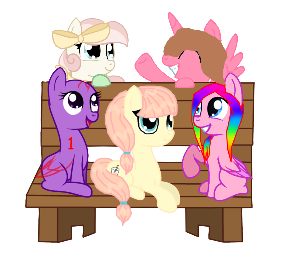 5 Pony Group Photo (Collab) by VioletWinged22