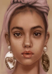 The girl with half pearl earrings
