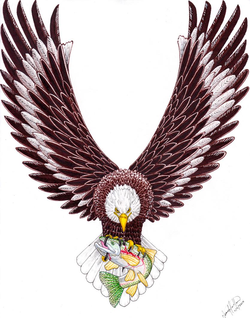 eagle tattoo design by spiderlaw on deviantart. Black Bedroom Furniture Sets. Home Design Ideas