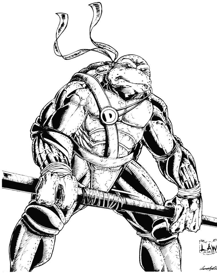 Donatello Ninja Turtle Sketch by SpiderLAW on DeviantArt
