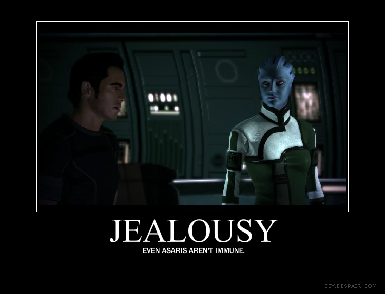 Kaidan and Liara jealousy by PureLightHealer
