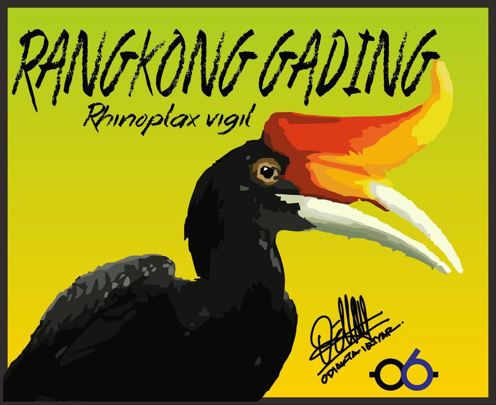 Rangkong Gading (Hornbill) by odiakta06