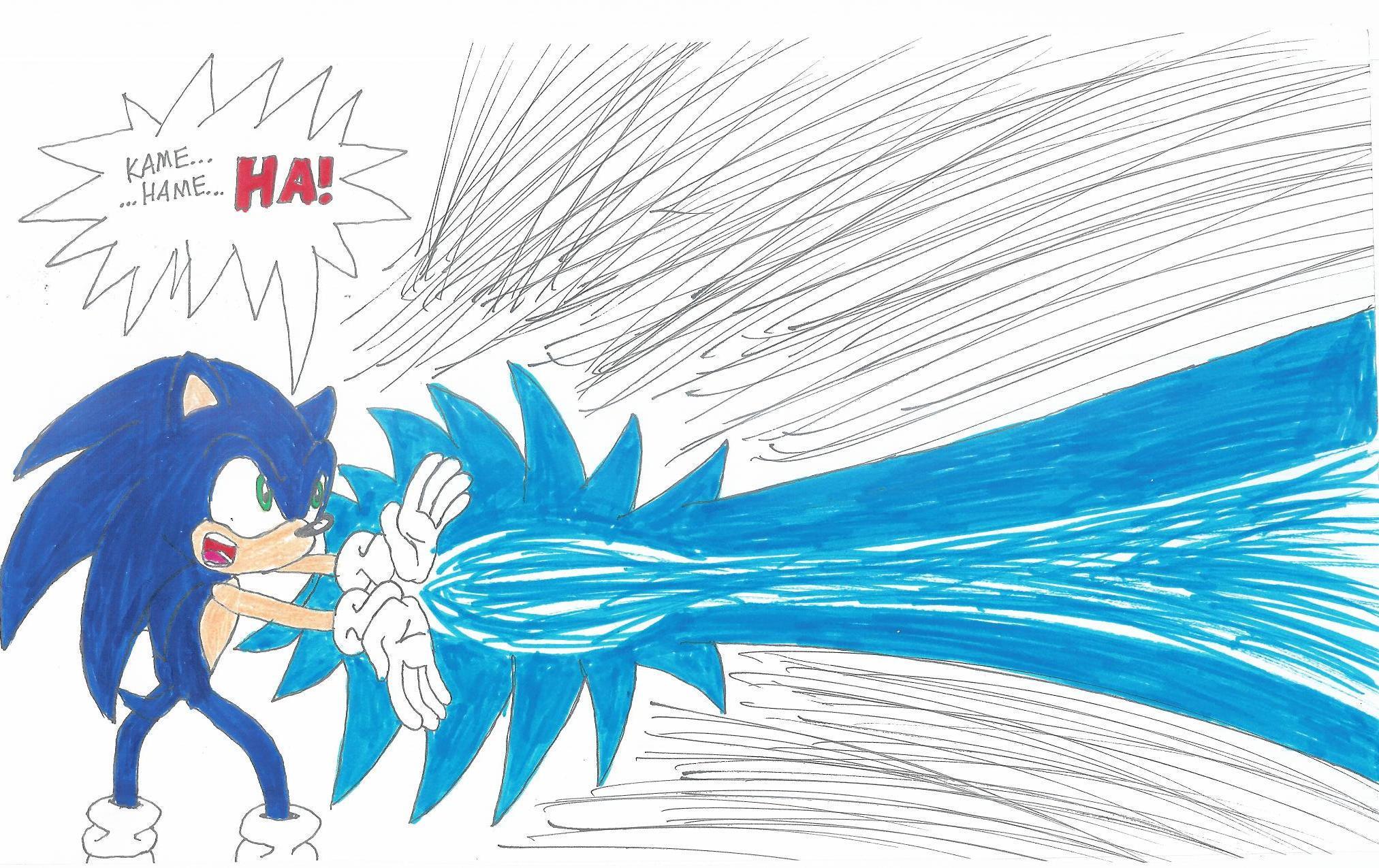 Sonic: KAMEHAMEHA test - YouTube