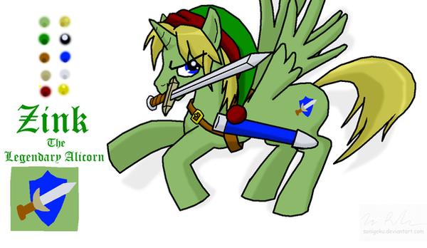 Zink the Legendary Alicorn by sonigoku