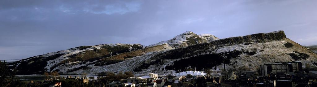 Holyrood Park with Snow by Beachrockz4eva