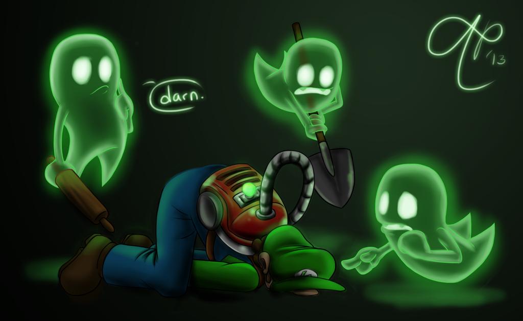 Greenie Luigi S Mansion Dark Moon Yaiii Minecraft Skin