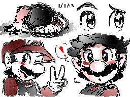 Flipnote Studio sketches (Nintendo DSi) by Rainmaker113