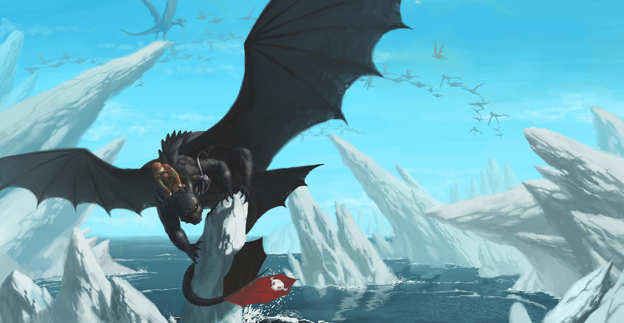 Hiccup and Toothless by Unn89 on