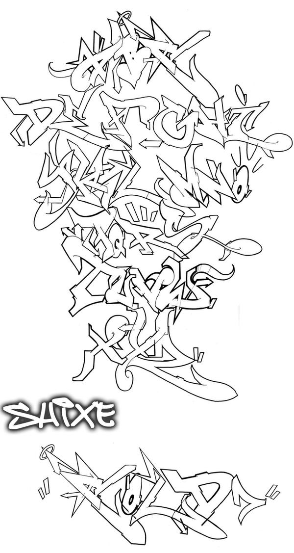 Alphabet with flow by Graffiti-Battles on DeviantArt