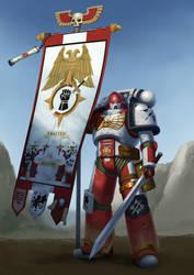 Exalted Blades Standard Bearer, Garut Helsk by Bobot073