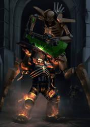 Damned Legionary v Necron Skorpekh Destroyer