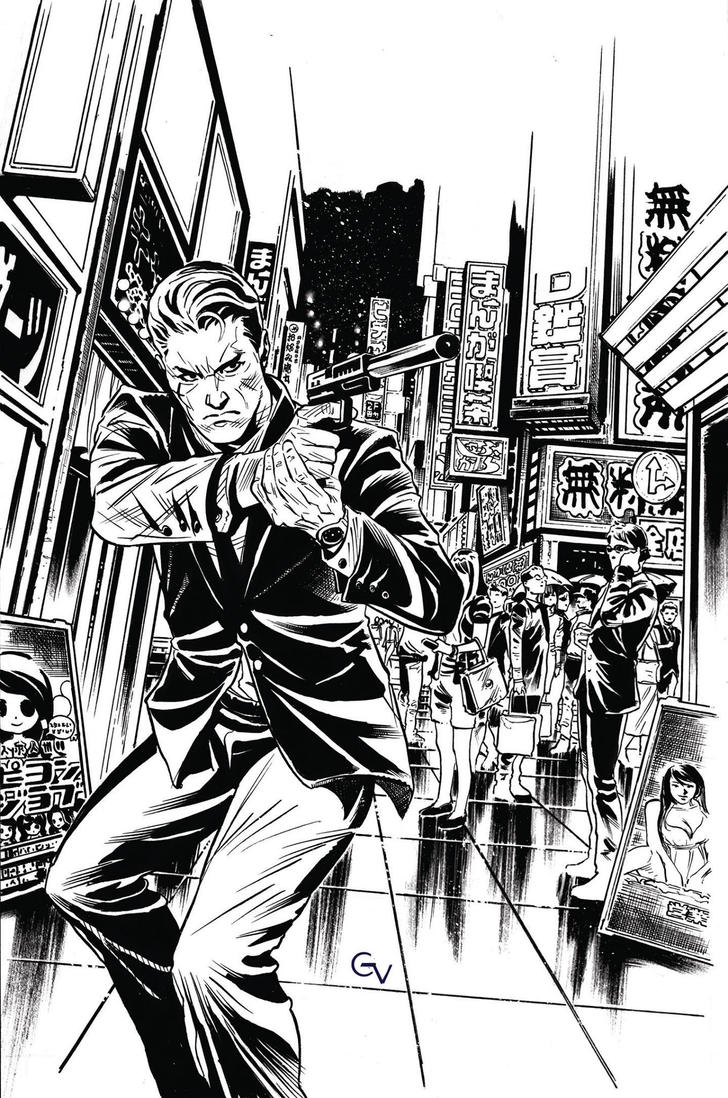 James Bond Black Box n2 cover inks by GIO2286