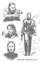 John Wick pencil tests by GIO2286