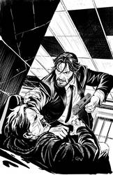 John Wick #1 cover inks