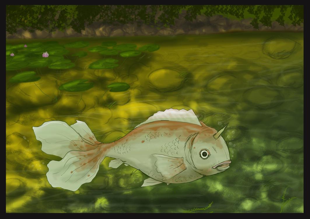 Koi pond by joshuadunlop on deviantart for Koi fish pond art