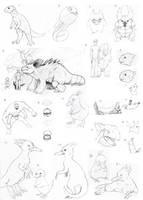 Pokemon evo sketch dump by JoshuaDunlop