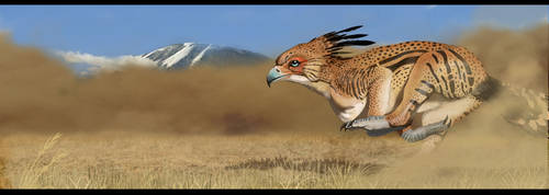 Wingless Gryphon added background detail by JoshuaDunlop