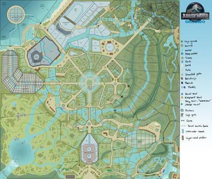 Jurassic World Orlando Map