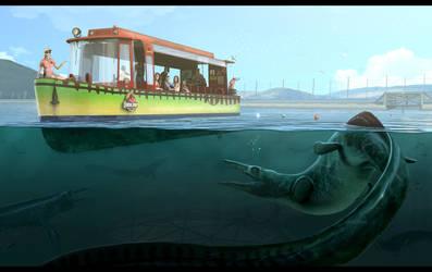 Jurassic Park Boat Tour by JoshuaDunlop