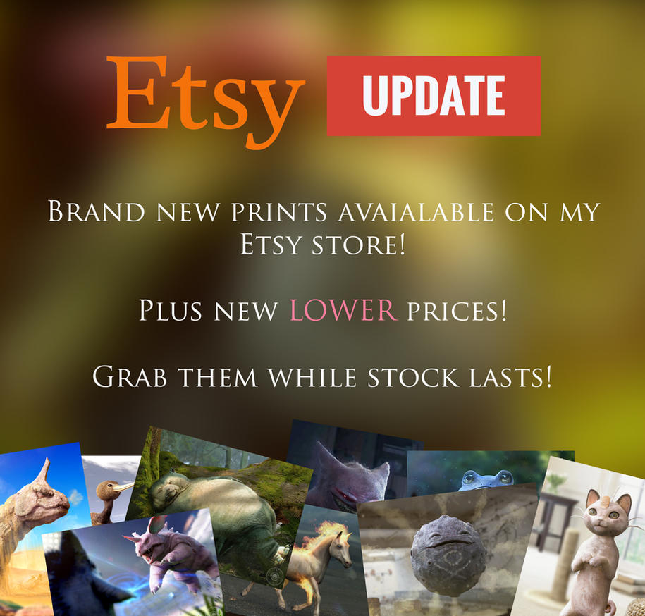 Etsy Update! by JoshuaDunlop