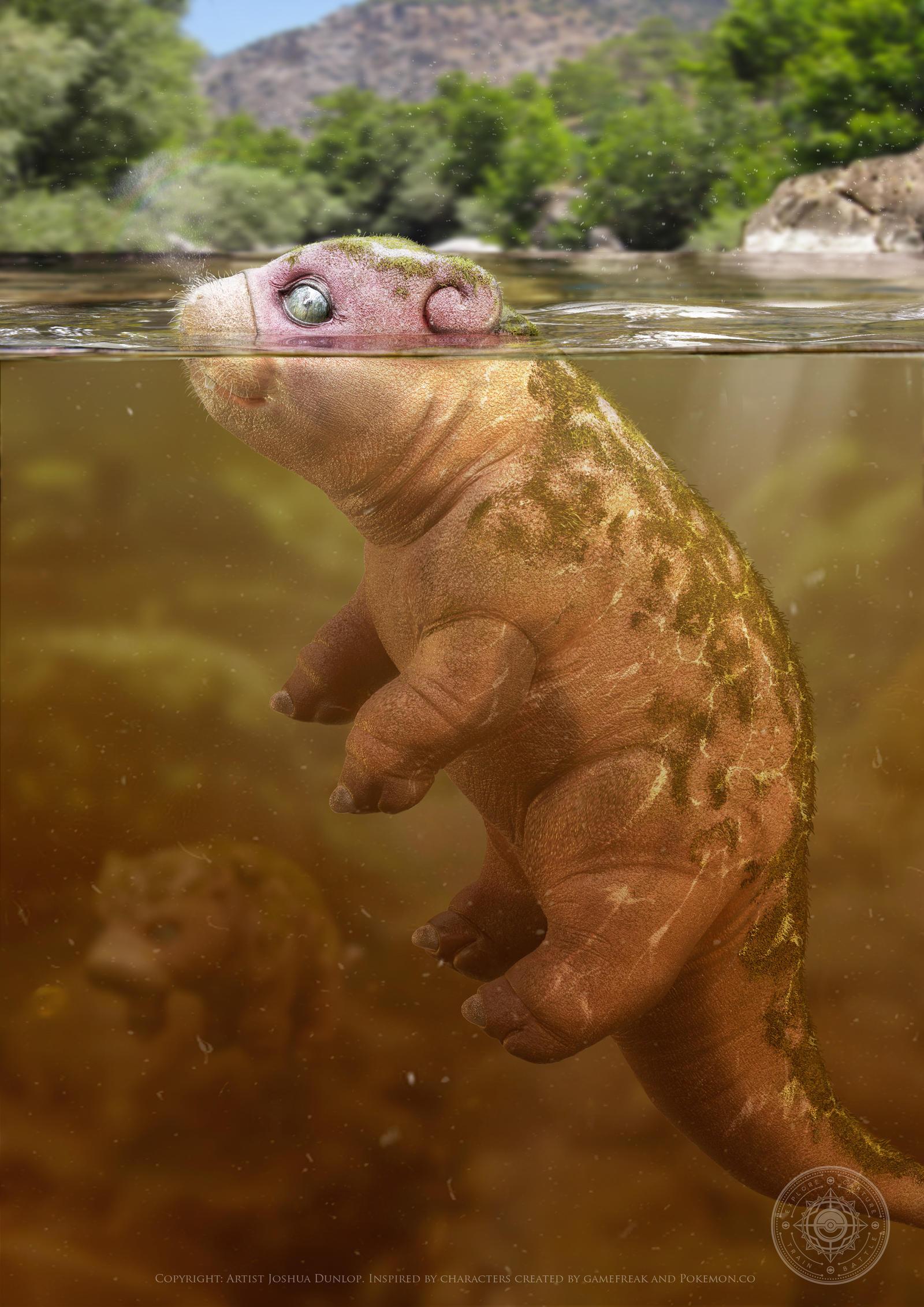 Slowpoke Underwater by JoshuaDunlop