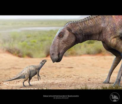 Brachylophosaurus Badlands