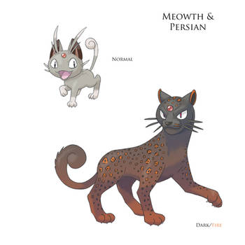 Fakemon- Meowth and Persian