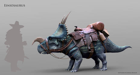 Einiosaurus- Dinosaur Mount 3