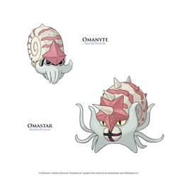 Fakemon - Equian Omanyte and Omastar