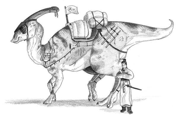 Parasaurolophus Ancient japan by JoshuaDunlop