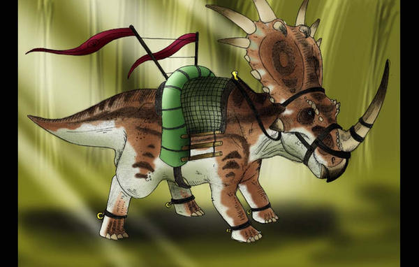 Forest Styracosaurus Mount by JoshuaDunlop