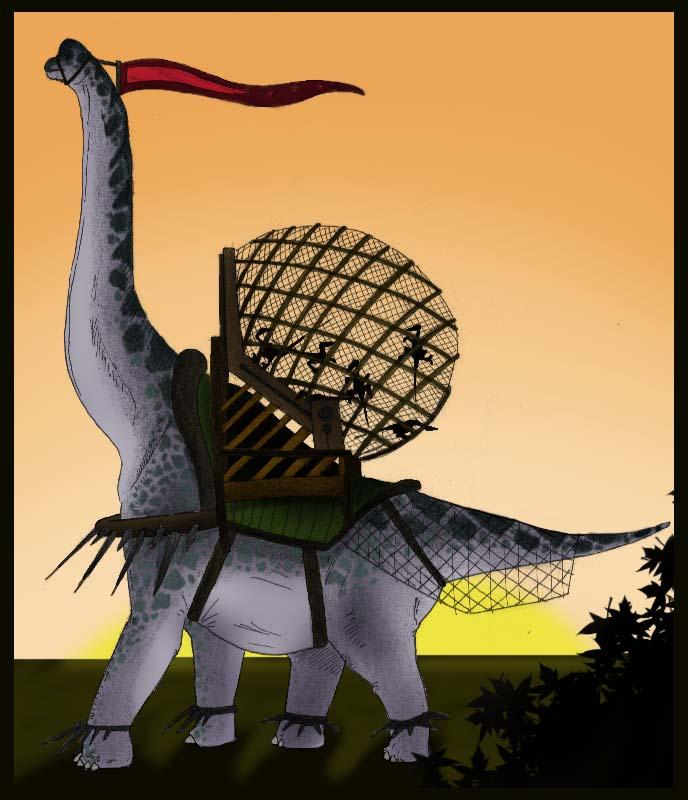 Brachiosaur raptor cage by JoshuaDunlop