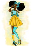 Blue and Yellow by Mwishingo