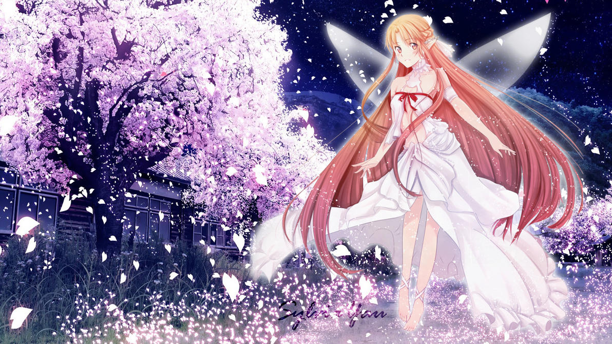 sword art online wallpaper - fairy asunasylviayau on deviantart