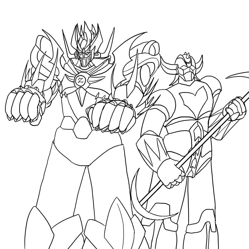 mazinger z coloring pages - photo#5