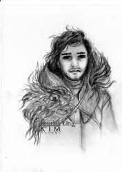 Jon Snow - fan art by Iluvfaeries