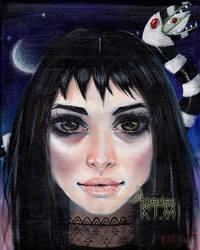 Lydia Deetz Beetlejuice fan art by Kim Turner
