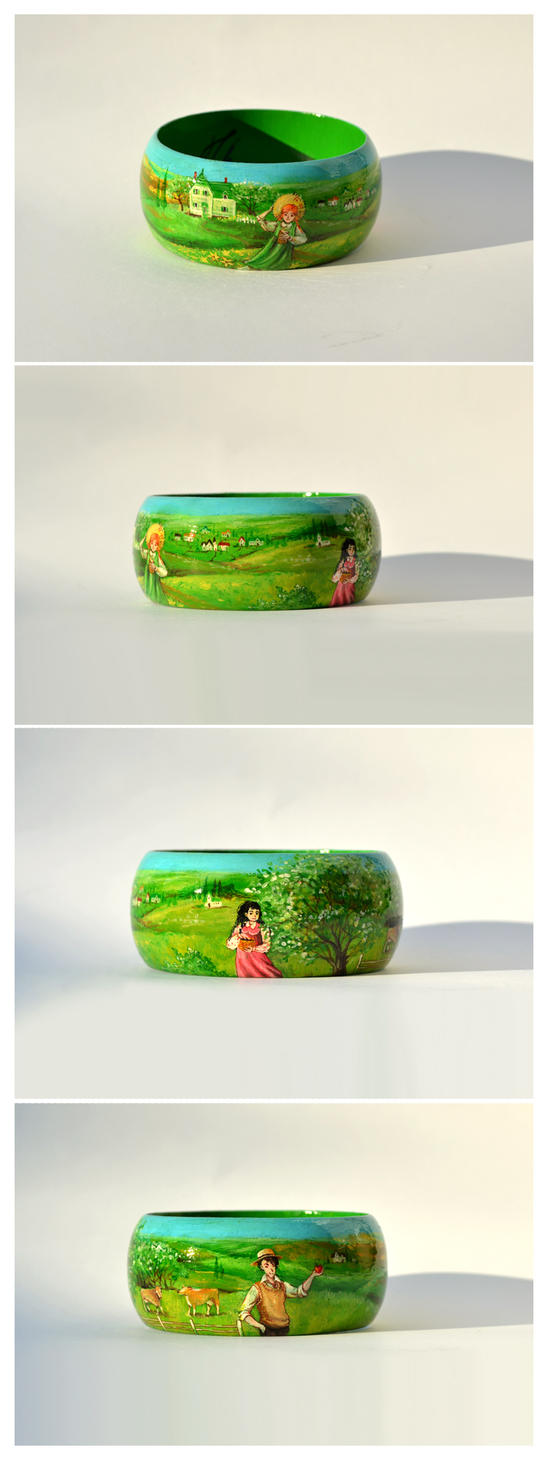 Anne of green gables wooden bracelet by doodleduo on for Anne of green gables crafts