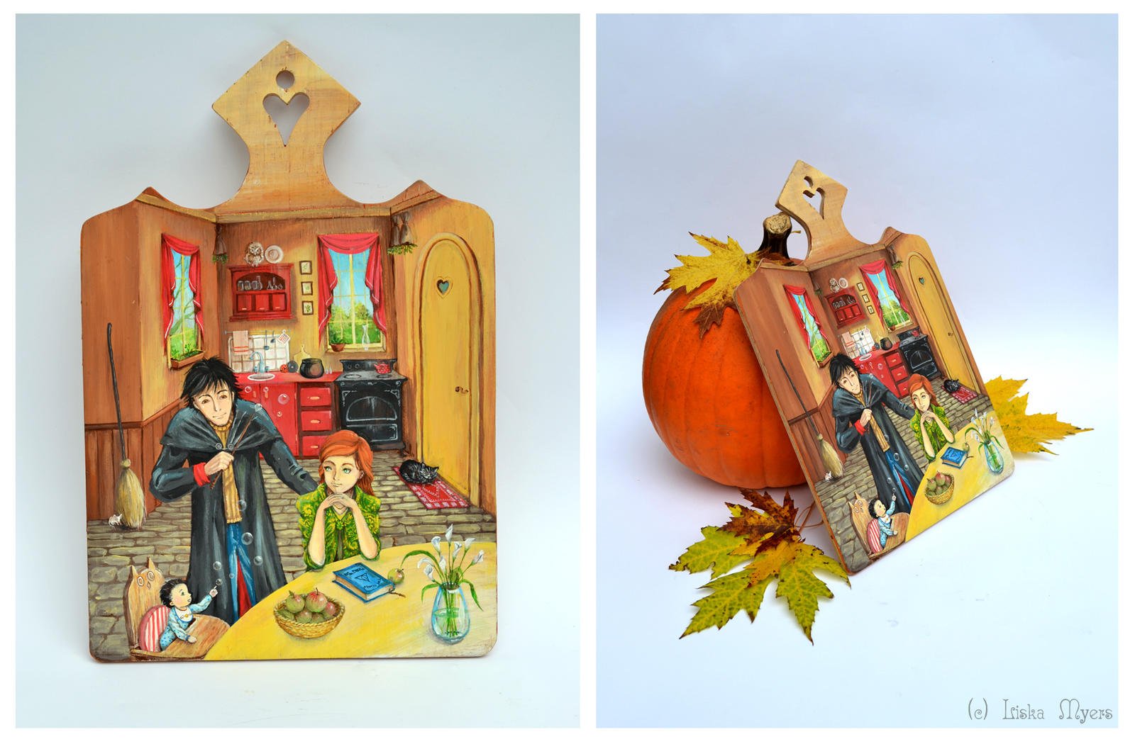 James and Lily Potter's Kitchen: Cutting Board by DoodleDuo