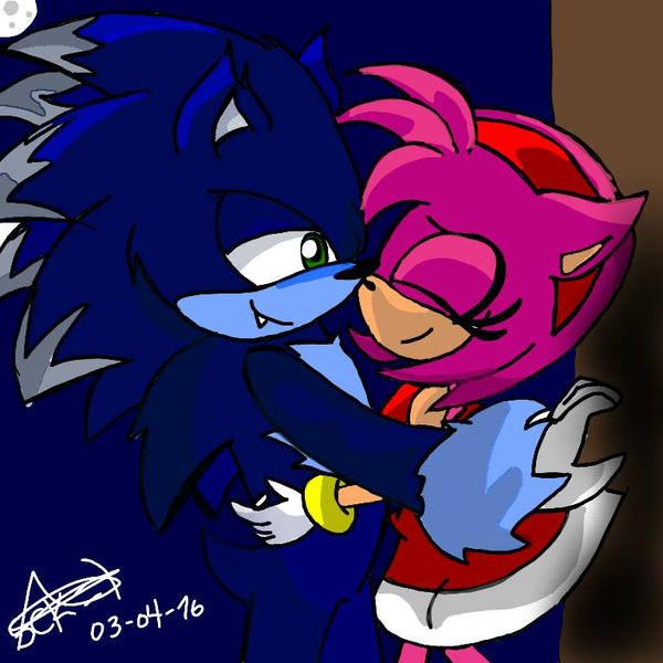 Sonic werehog X Amy by amyComicMaker on DeviantArt