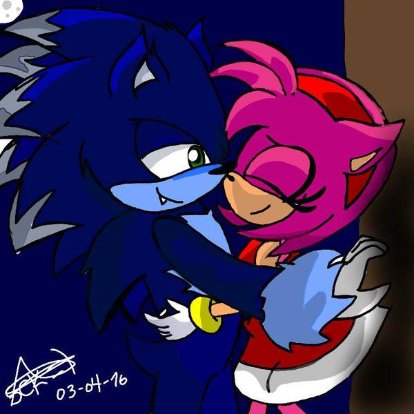Sonic werehog X Amy by amyComicMaker on DeviantArt