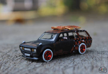 Custom Hot Wheels Datsun Bluebird 510 Wagon by bagoestm